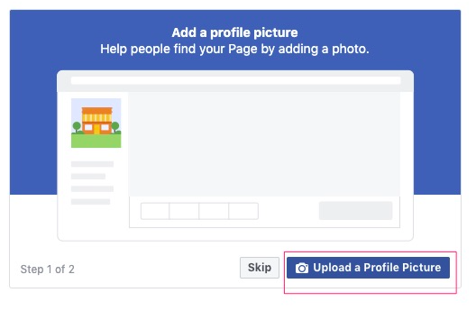 Upload Profile Picture on Facebook page